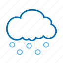 cloud, color, hails, weather icon