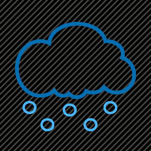 cloud, color, hails, weather icon