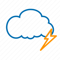 cloud, color, lightning, weather icon