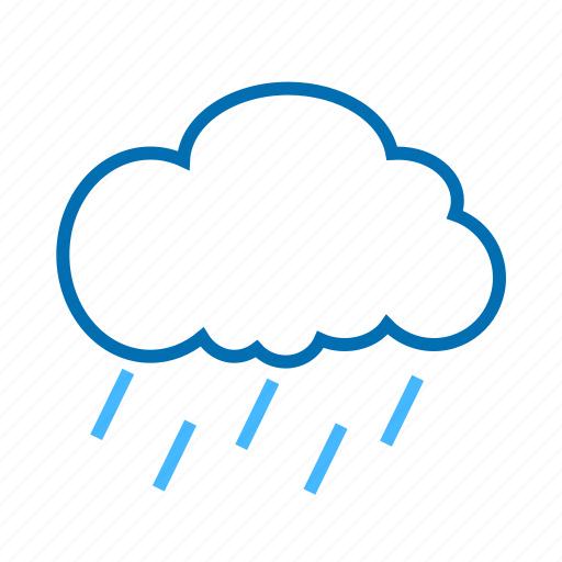 cloud, color, rain, weather icon