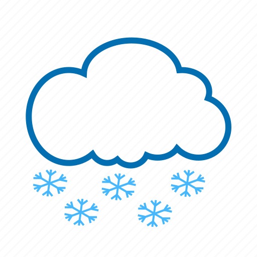 cloud, color, snow, snowflake, weather icon