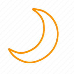 color, moon, weather icon