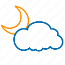 cloud, color, moon, weather icon
