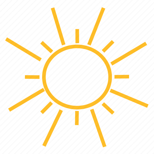 color, sun, weather icon