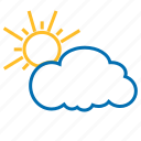 cloud, color, sun, weather