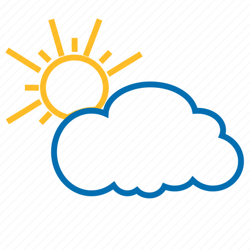 cloud, color, sun, weather icon