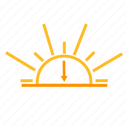 color, sunset, weather icon