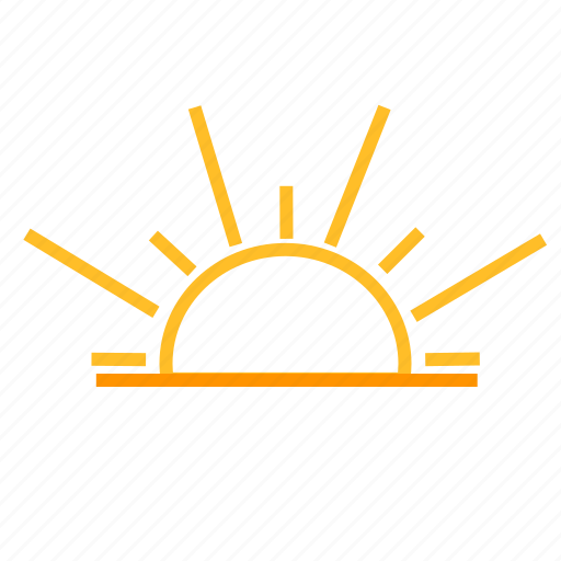 color, sunrise, sunset, weather icon