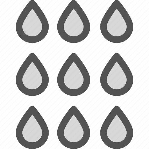 droplet, rain, showers, water icon
