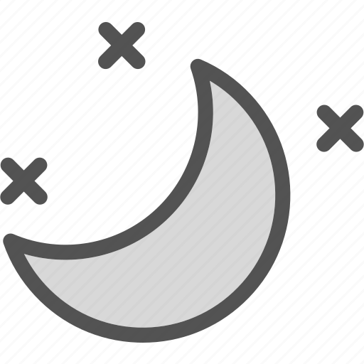 moon, night, stars, starsstars icon
