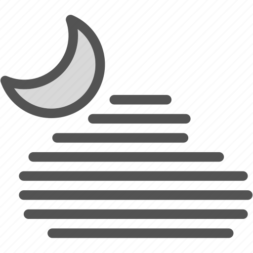 hotnight, moon, stars icon