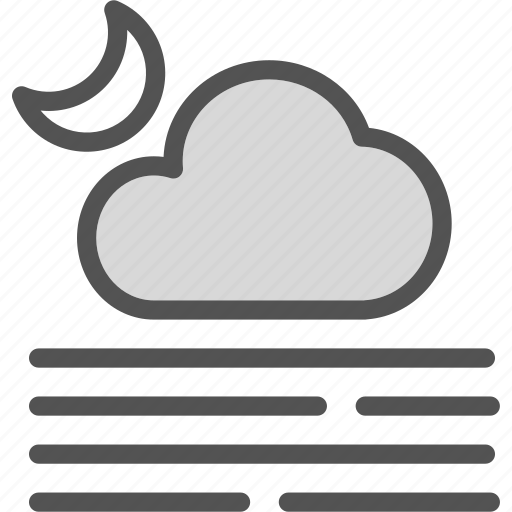 fog, moon, night, stars icon