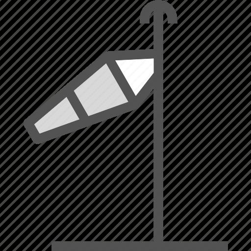 air, flow, poledirection, storm, wind icon