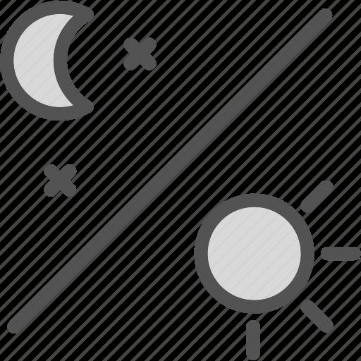 daynight, moon, stars icon