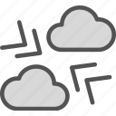 air, clouds, night, pressure, warm, weather icon