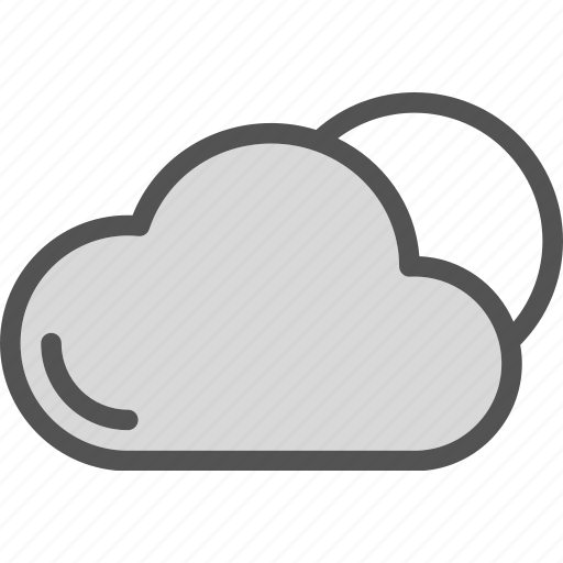 clouds, heat, sunset, weather icon