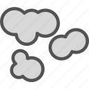 clouds, moon, night, stars, weather icon