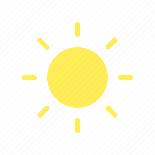 day, fine, forecast, sky, sun, weather icon