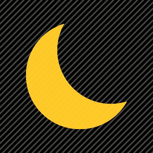 fine, flat design, forecast, moon, night, sky, weather icon