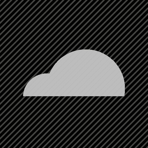 cloud, cloudy, cumulus, flat design, forecast, sky, weather icon