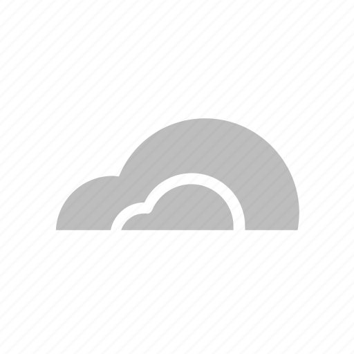 cloud, cloudy, cumulus, flat design, forecast, weather icon