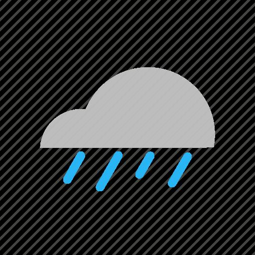cloud, flat design, forecast, rain, rainy, storm, weather icon
