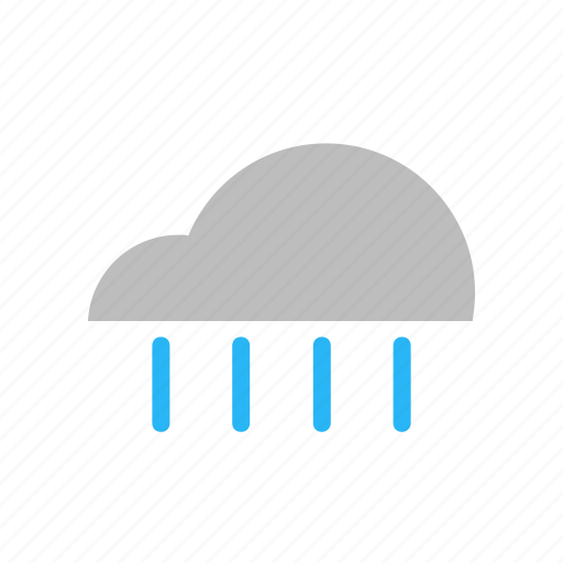 cloud, cloudy, flat design, forecast, rain, rainy, weather icon