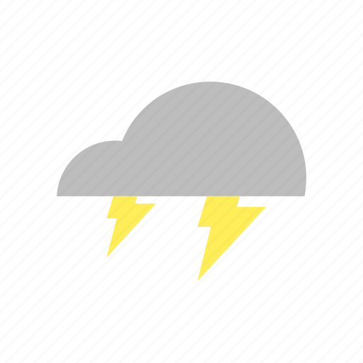 cloud, forecast, lightning, storm, thunder, weather icon