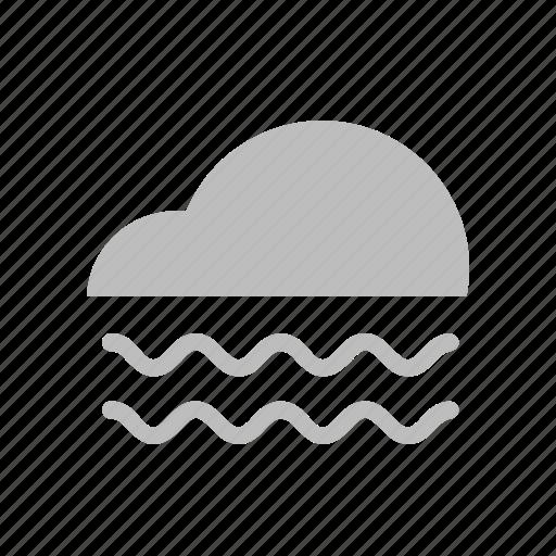 cloud, fog, forecast, mist, weather icon