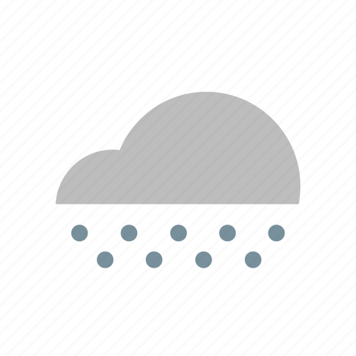 christmas, cloud, flat design, forecast, snowfall, weather, winter icon
