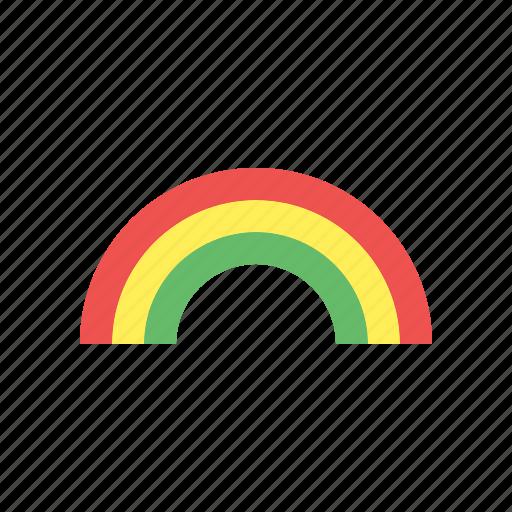 Cloud, forecast, rain, rainbow, sun, weather icon - Download on Iconfinder