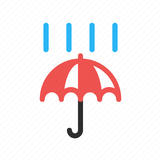 cloud, forecast, rain, rainy, umbrella, weather icon