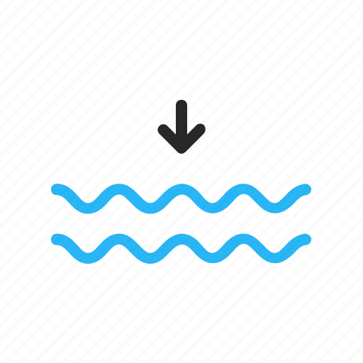 forecast, low, ocean, sea, tide, weather icon