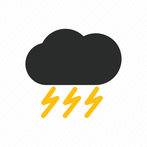 cloud, day, element, flash, lightning, weather icon