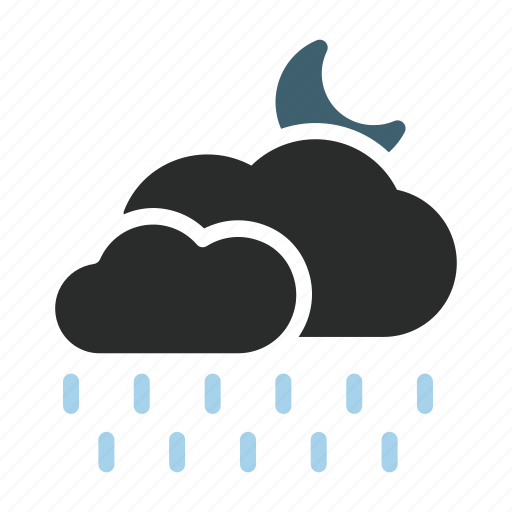 clouds, day, drizzle, element, night, rain, weather icon