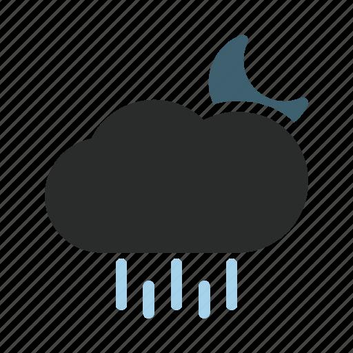 day, element, heavy, night, rain, weather icon