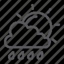 climate, cloud, forecast, rain, sky, sun, weather