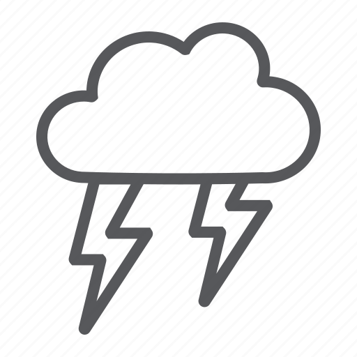 climate, forecast, storm, thunderstorm, weather icon