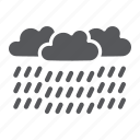 climate, heavy, meteorology, rain, raincloud, weather icon