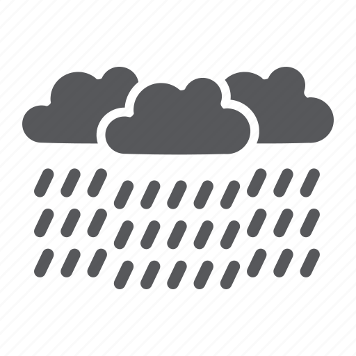 climate, heavy, meteorology, rain, raincloud, weather icon