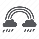 cloud, nature, rain, rainbow, rainy, sky, weather icon