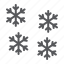 cold, forecast, sign, snow, snowflake, winter icon