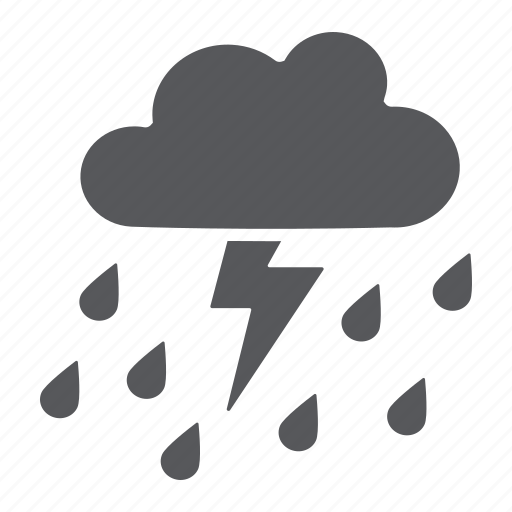 climate, cloud, forecast, rain, thunderstorm, weaher icon