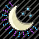 weather, forecast, moon, night, moonlight