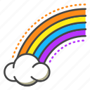 rainbow, sky, cloud