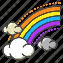 weather, forecast, rainbow, cloud, colorful, lgbt, sky