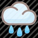 rainy, rain, weather, cloud, forecast, sun, cloudy