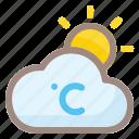weather, degress, cloud, forecast, rain, sun, cloudy
