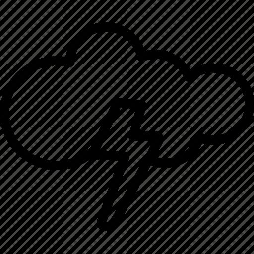cloud, lightning, rain, storm icon
