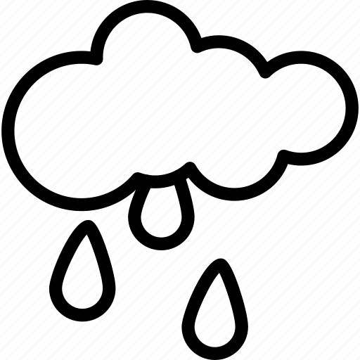 cloud, drops, forecast, rain, raining, weather icon